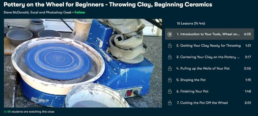 Course: Pottery on the Wheel for Beginners - Throwing Clay, Beginning Ceramics (Skillshare)