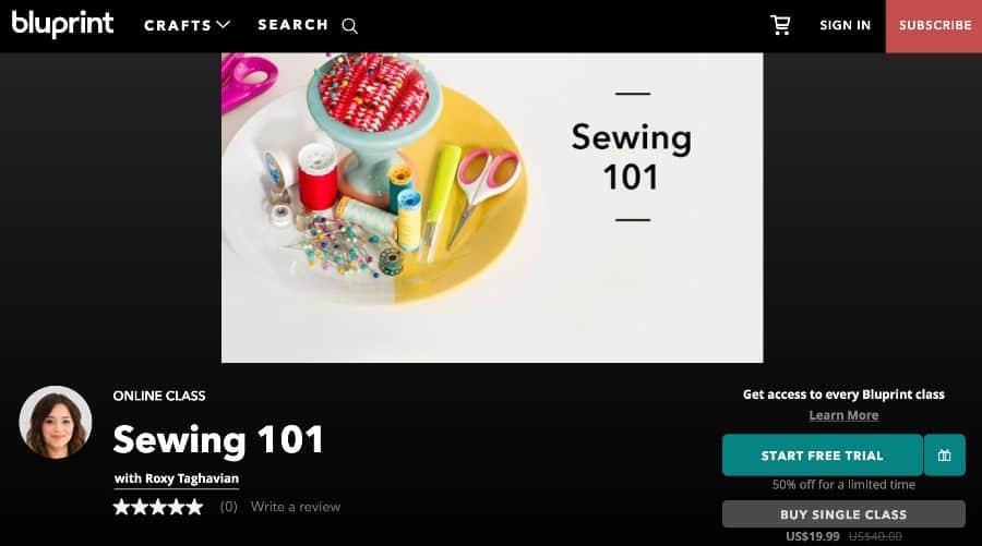 Course: Sewing 101 (Bluprint)