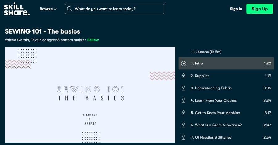 Course_ Sewing 101 - The Basics (Skillshare)