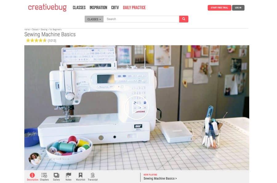 Course: Sewing Machine Basics