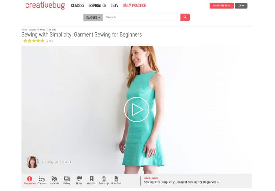 Sewing With Simplicity: Garment Sewing for Beginners (Creative Bug)