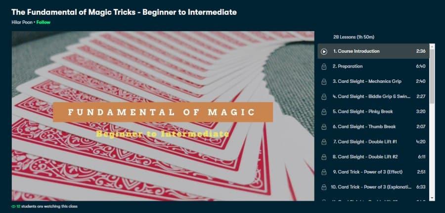The Fundamental of Magic Tricks - Beginner to Intermediate