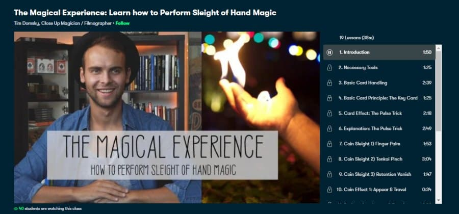 The Magical Experience: Learn how to Perform Sleight of Hand Magic
