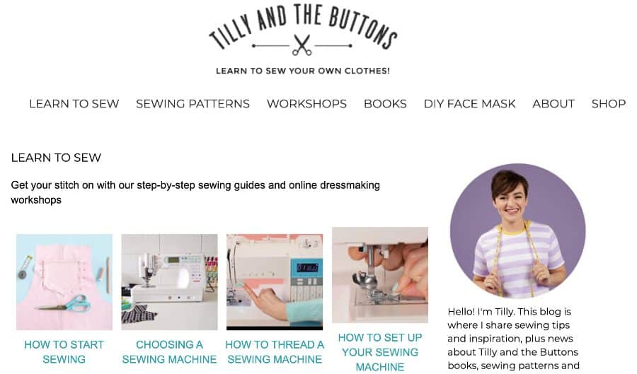 mention: Tilly and the Buttons Blog