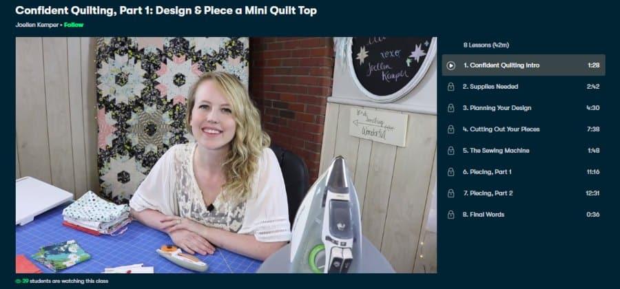 Confident Quilting, Part 1: Design & Piece a Mini Quilt Top