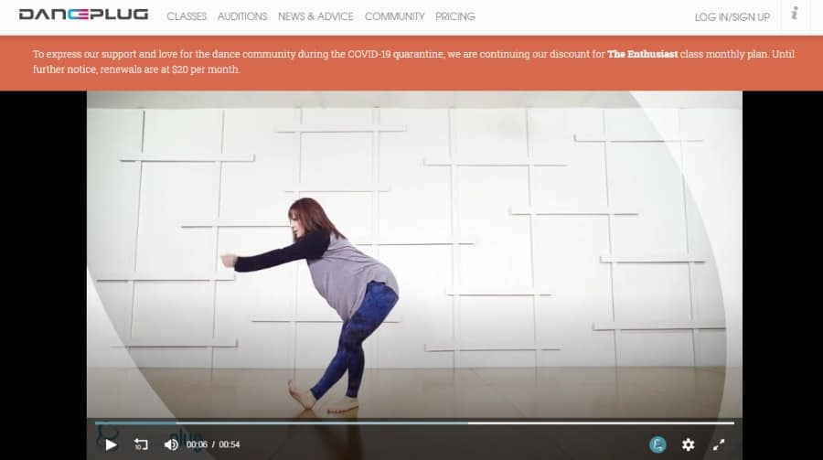 Course Platform: DancePlug Class: 'Let Me' Contemporary Choreography