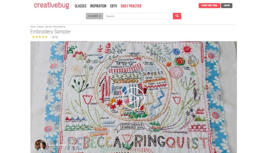 Course: Embroidery Sampler