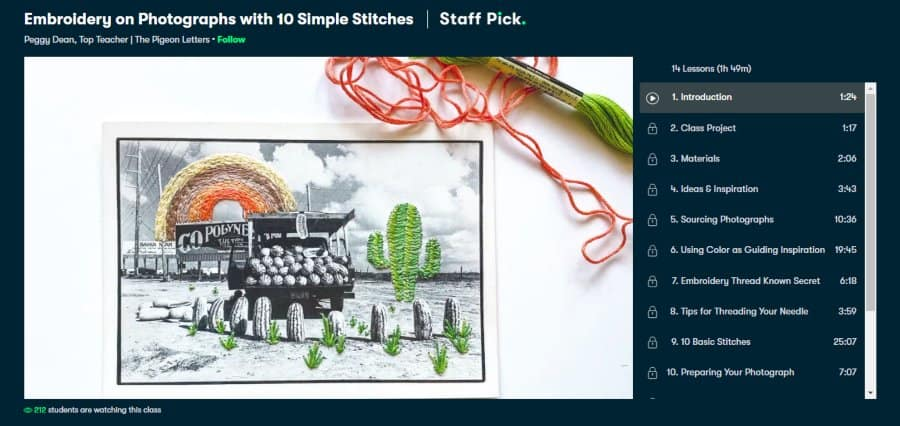 Course: Embroidery on Photographs with 10 Simple Stitches