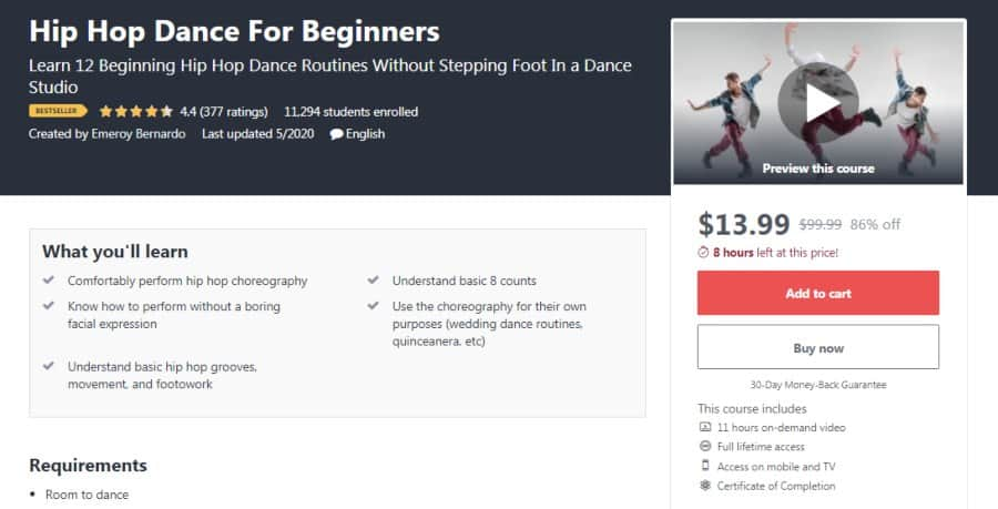 Course: Hip Hop Dance for Beginners