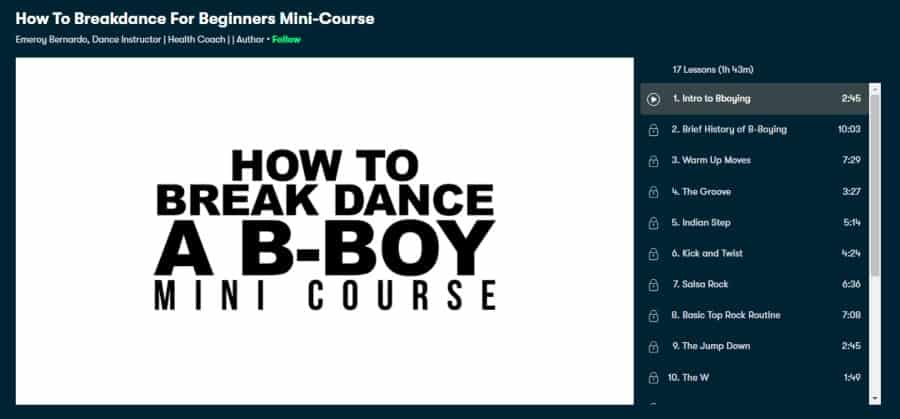 Course: How to Breakdance for Beginners Mini-Course