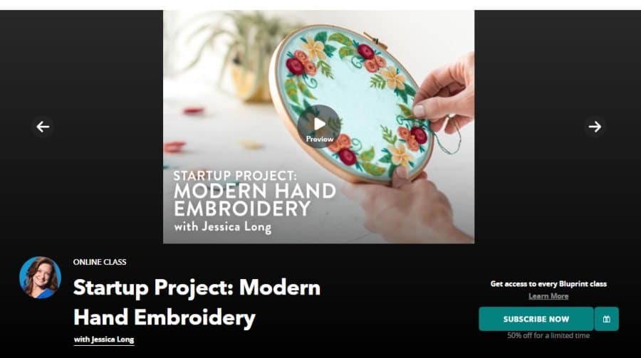 Course: Startup Project: Modern Hand Embroidery