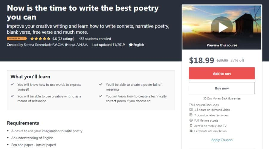 Now is the time to write the best poetry you can
