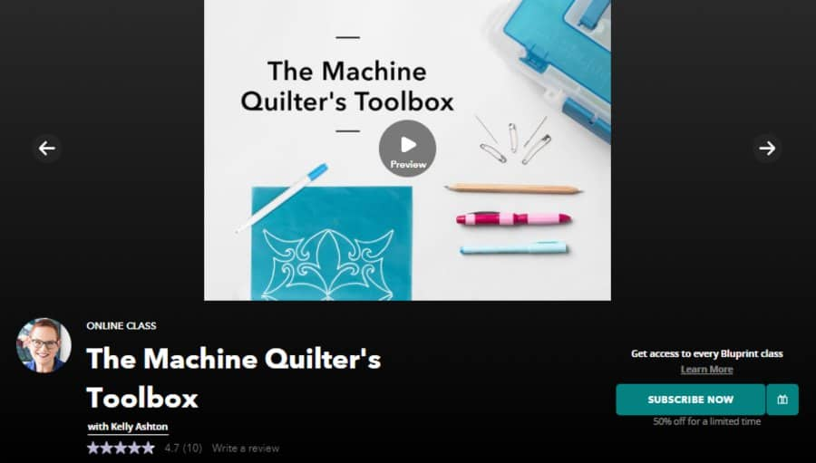 The Machine Quilter's Toolbox