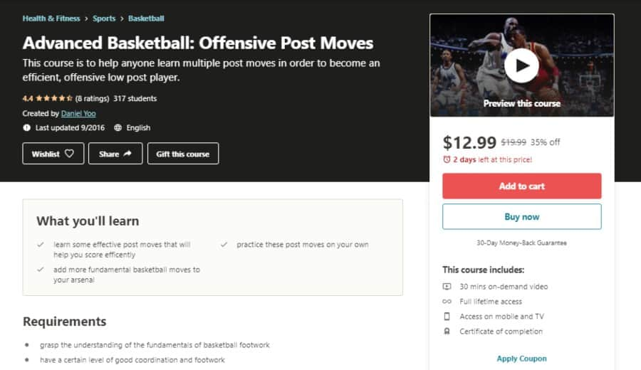 Advanced Basketball: Offensive Post Moves