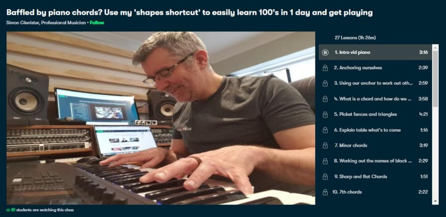 Baffled by piano chords? Use my 'shapes shortcut' to easily learn 100's in 1 day and get playing