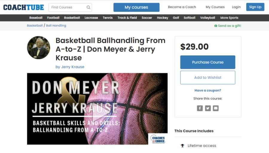 Basketball Ballhandling From A-to-Z | Don Meyer & Jerry Krause