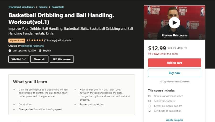 Basketball Dribbling and Ball Handling. Workout (vol.1)