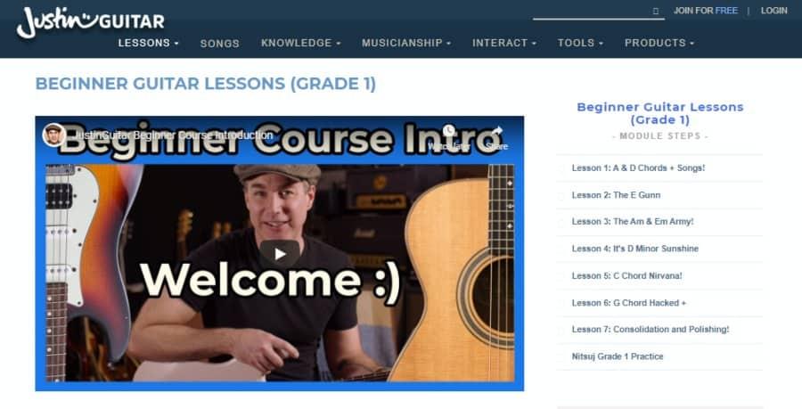 Beginner Guitar Lessons (Grade 1)