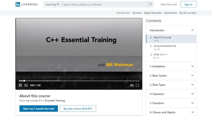 C++ Essential Training
