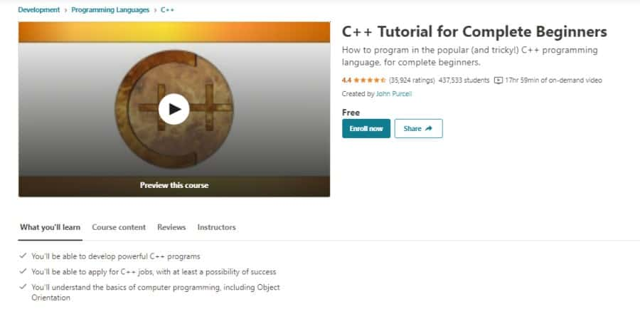 C++ Tutorial for Complete Beginners