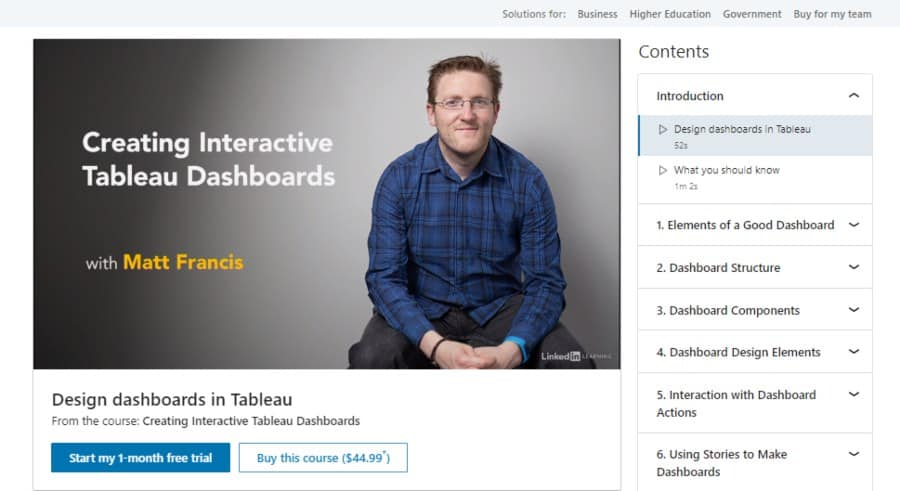 Creating Interactive Tableau Dashboards
