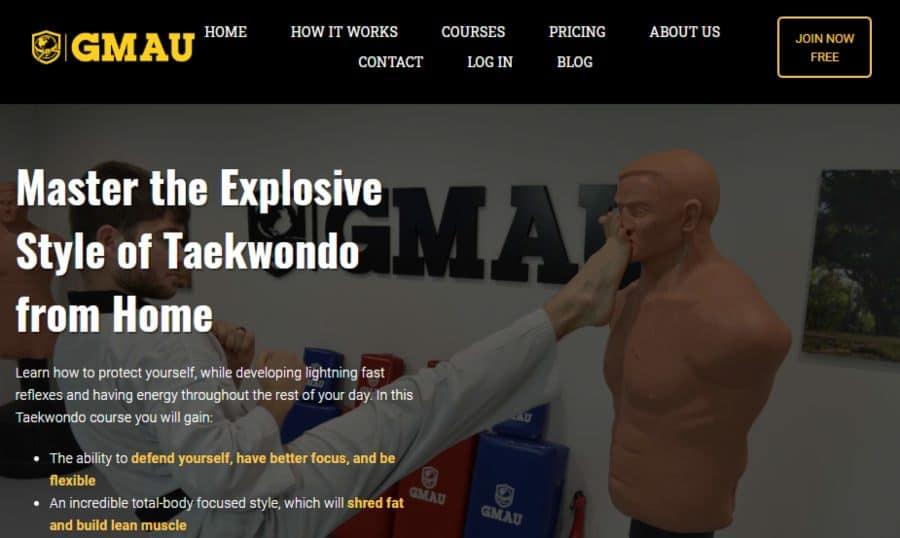 GMAU Master the Explosive Style of Taekwondo from Home