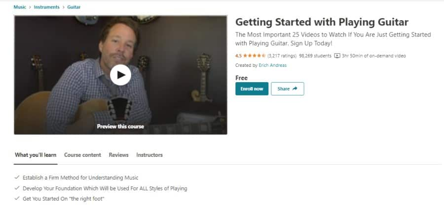 Getting Started with Playing Guitar