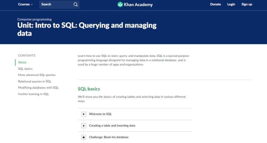 Intro to SQL: Querying and managing data