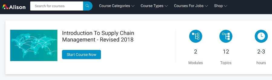 Introduction to Supply Chain Management – Revised 2018
