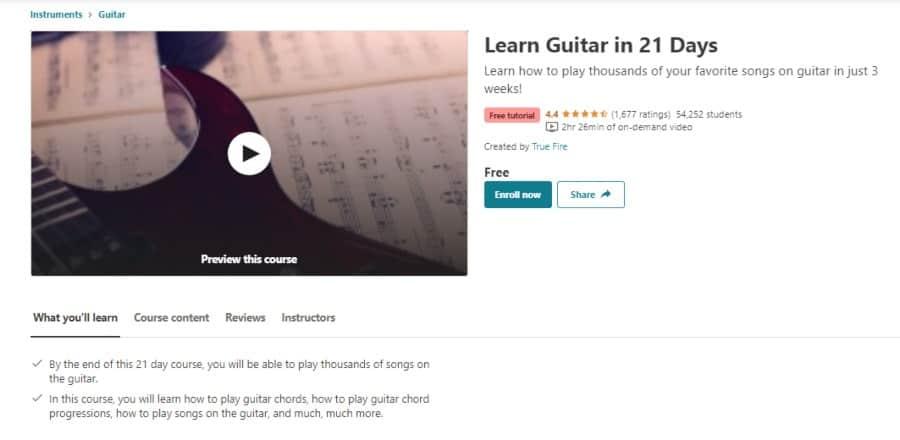 Learn Guitar in 21 Days
