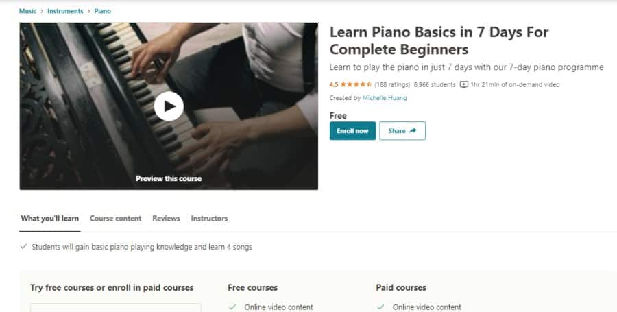 Learn Piano Basics in 7 Days For Complete Beginners