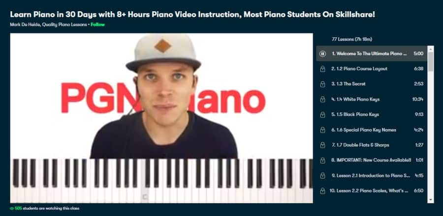 Learn Piano in 30 Days with 8+ Hours Piano Video Instruction, Most Piano Students On Skillshare!