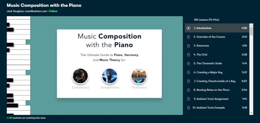 Music Composition with the Piano