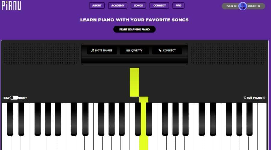 Pianu Online Piano Keyboard