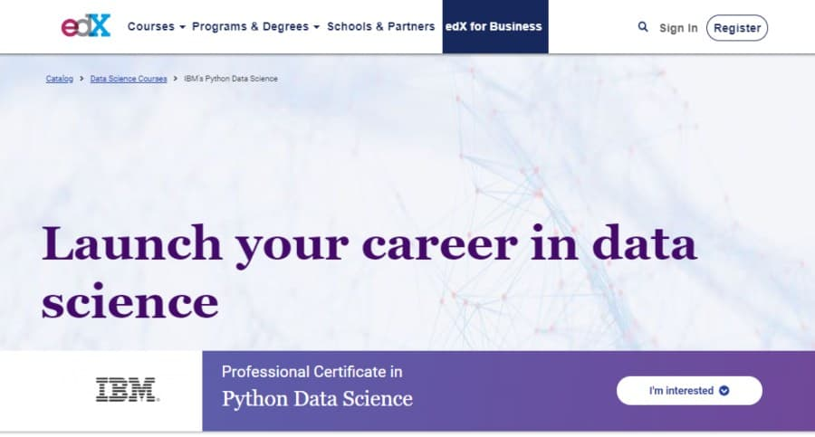 Professional Certificate in Python Data Science – IBM