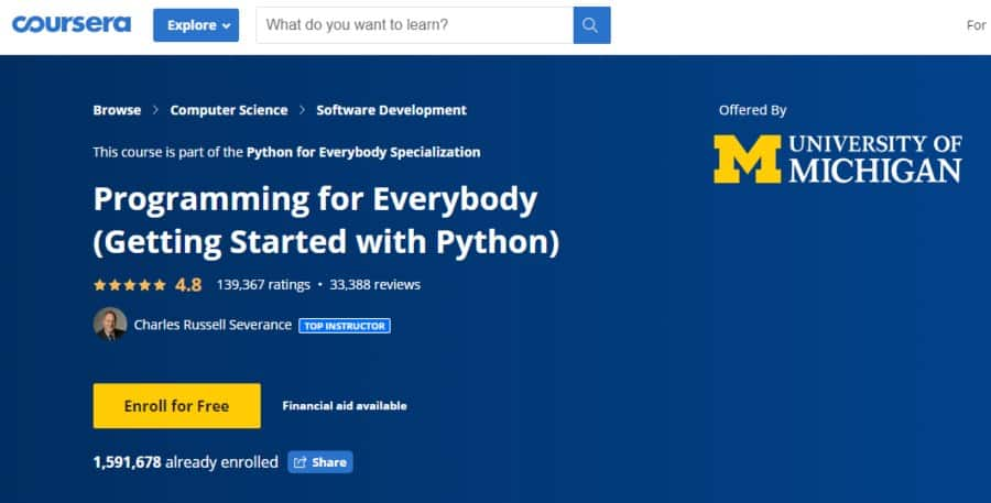 Programming for Everybody – Getting Started With Python