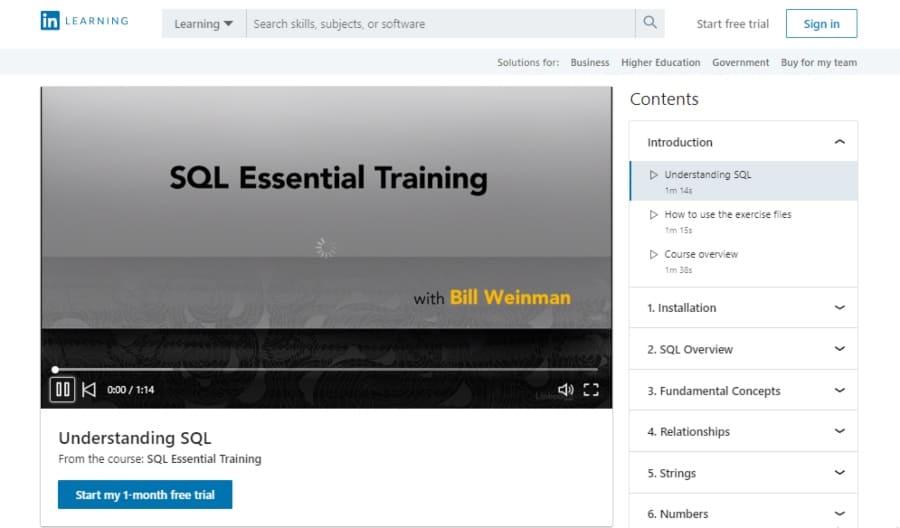 SQL Essential Training