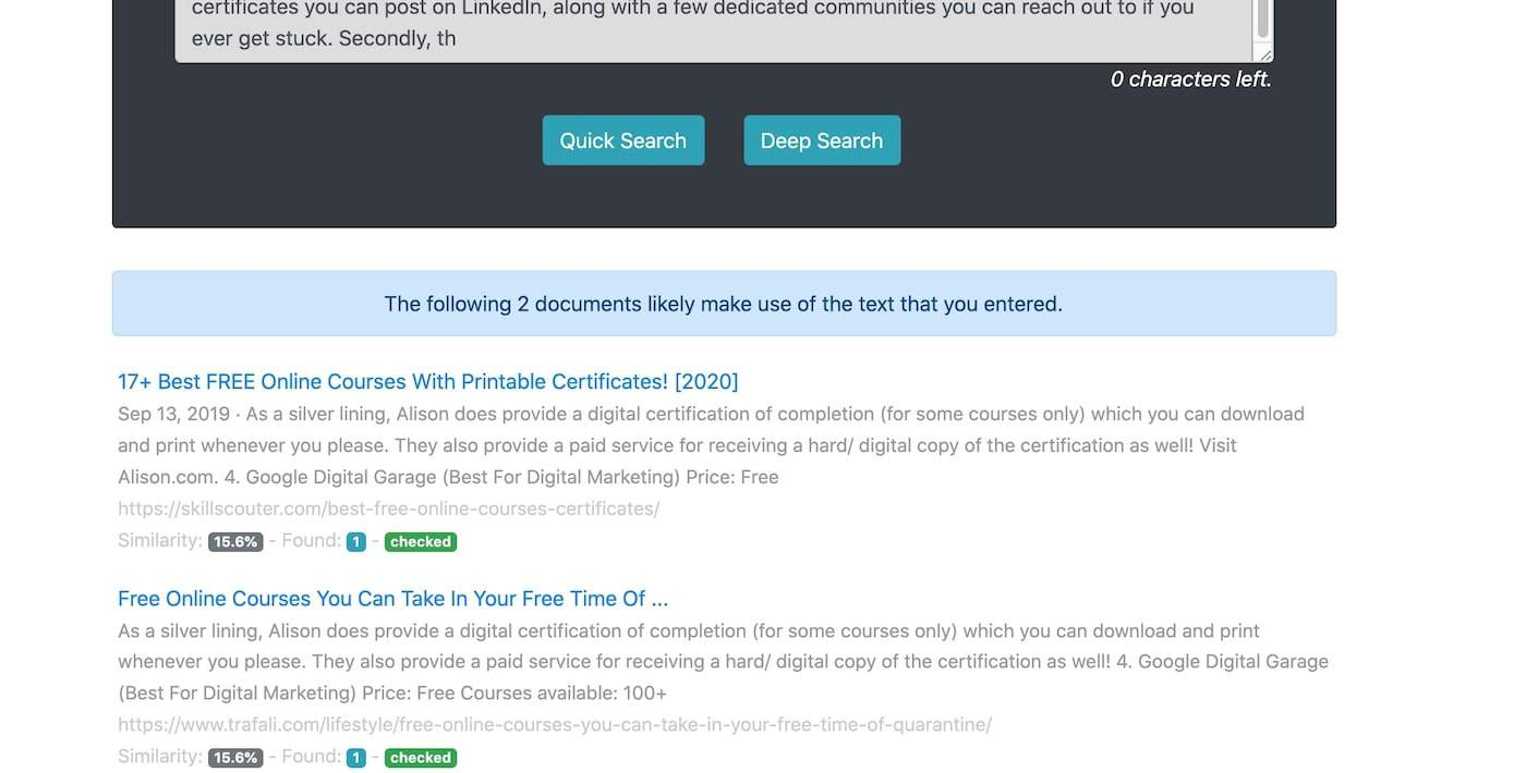 Screen Shot 2020 07 22 at 9.57.45 am Top 11+ Best Free Plagiarism Checkers For Teachers & Students
