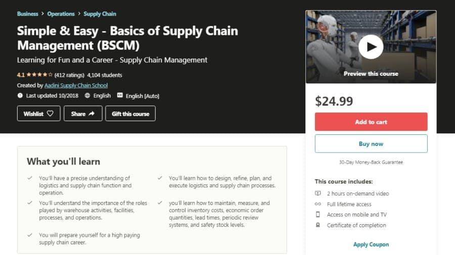 Simple & Easy – Basics of Supply Chain Management [BSCM]