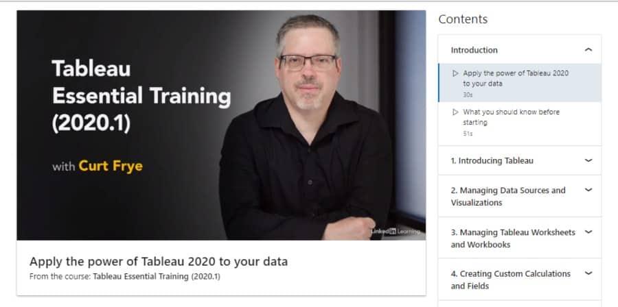 Tableau Essential Training – 2020.1
