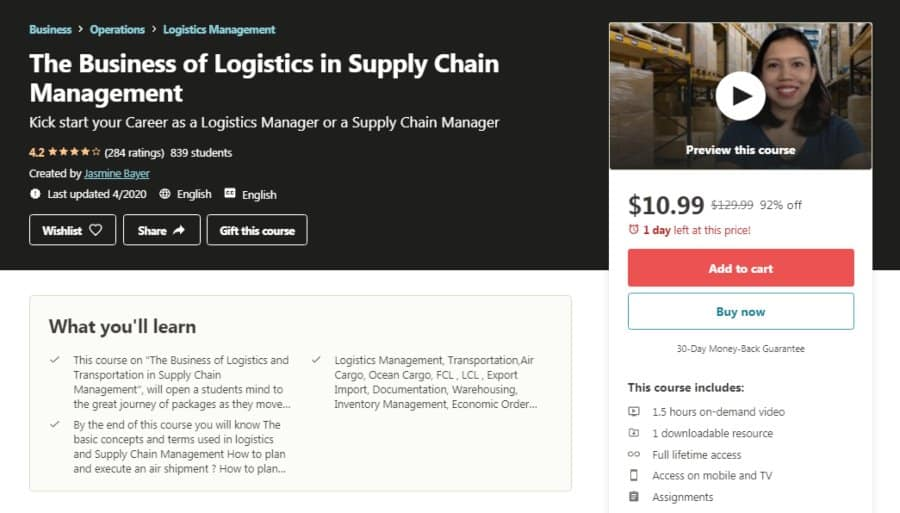 The Business of Logistics in Supply Chain Management