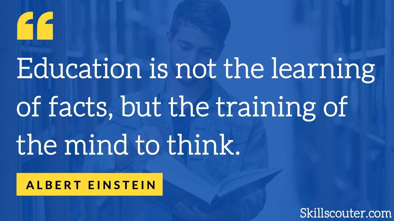 albert einstein learning quote