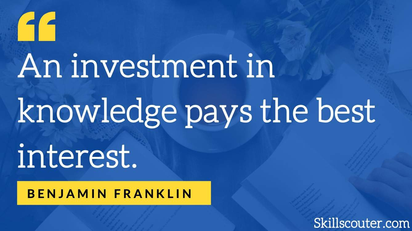 benjamin franklin learning quote 79+ Of The Best Learning Quotes, Sayings & Proverbs
