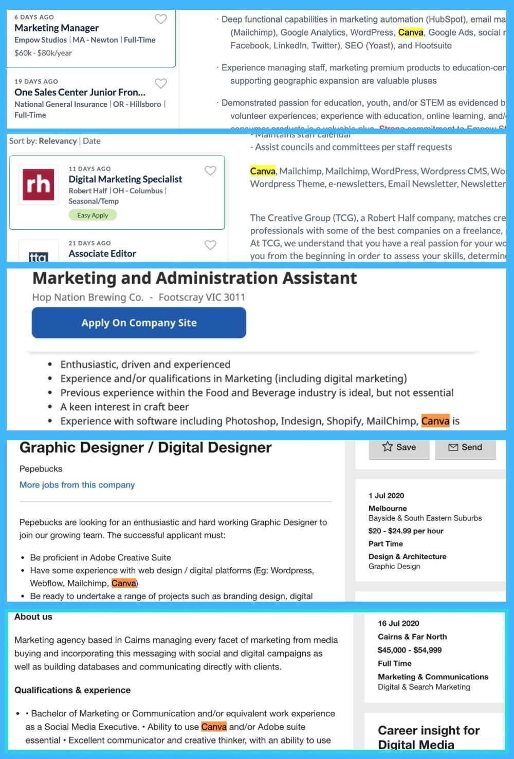 canva job postings Is Canva a Skill & Should I Put It On My Resume?