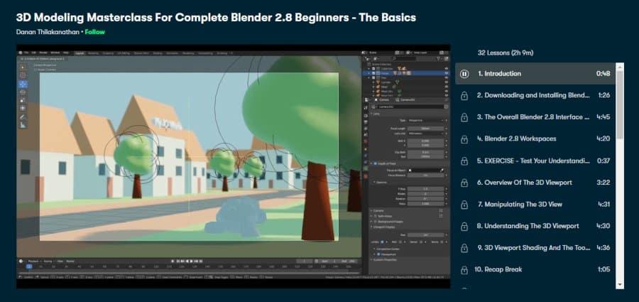 3D Modeling Masterclass for Complete Blender 2.8 Beginners- The Basics