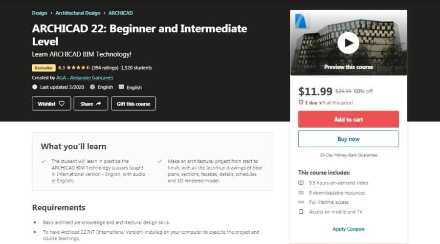 ARCHICAD 22: Beginner and Intermediate level