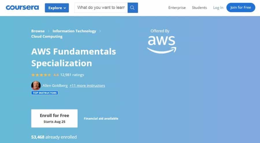 AWS Fundamentals Specialization