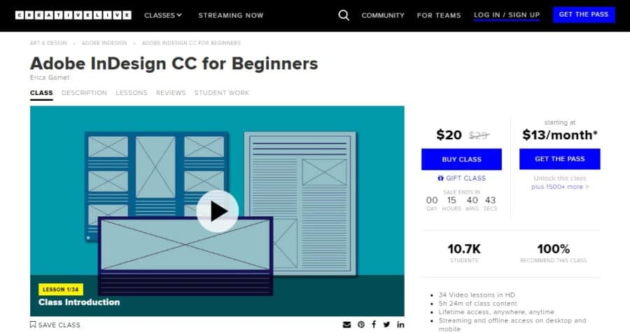 Adobe InDesign CC for Beginners