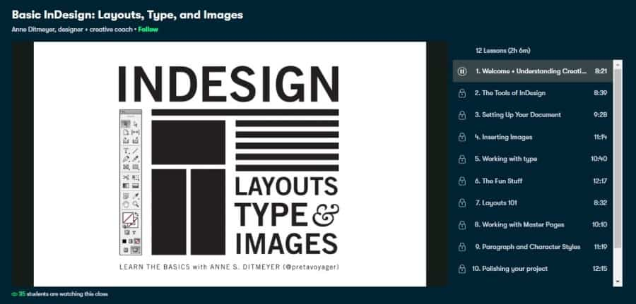 Basic InDesign: Layouts, Type, and Images