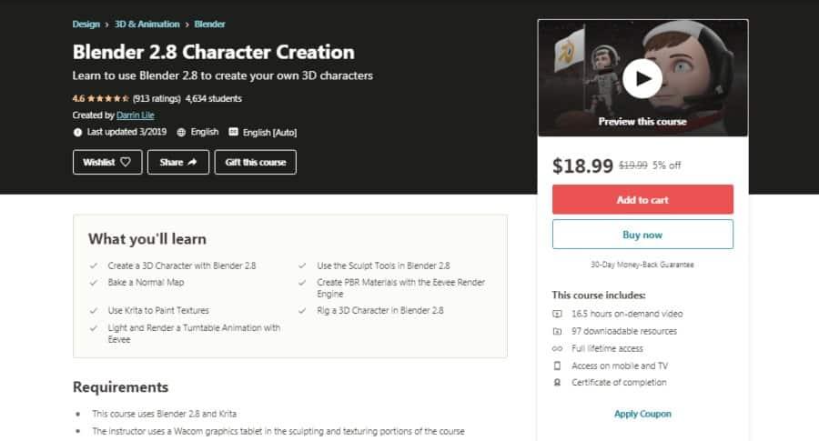 Blender 2.8 Character Creation